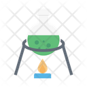 Flask Burner Experiment Icon