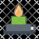 Burner Flame Lab Icon