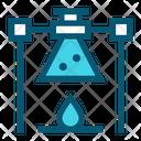 Burner Flame Flask Icon