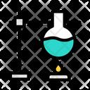 Burner Flask Lab Icon