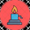 Burner In Lab Chemical Burn Alcohol Burner Icon
