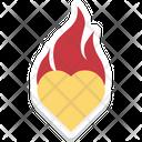 Burning Heart Romance Icon