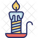 Burning Candle Christmas Candles Icon