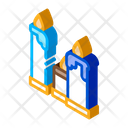 Burning Church Candles Icon