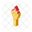 Burning Torch Isometric Icon