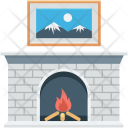 Burning Fireplace Fire Icon