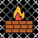 Burning Barrle Wall Icon