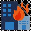 Burning building Icon