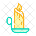 Burning Candle Color Icon