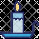 Burning Candle Candle Decorative Icon