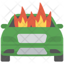 Burning Car Icon