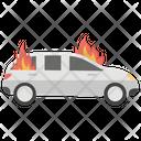 Burning Car Icon