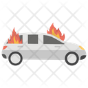 Car Burn Car Fire Fire On Car Icon