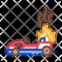 Burning Kart Fire Icon