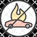 Burning Car Burning Car Icon