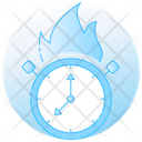 Burning Clock Icon