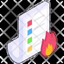 Burning Data Icon