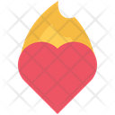 Burning heart Icon