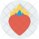 Burning Heart Flames Icon
