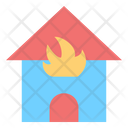 Burning Fire Home Icon