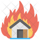 Burning House House Flames House Fire Icon