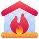 Burning House House On Fire Fire Icon
