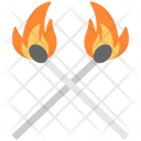Burning Matchsticks Matchstick Icon
