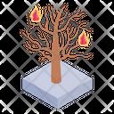 Burning Tree Icon