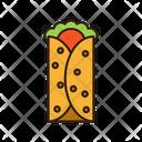 Burrito Fast Food Junk Food Icon