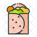Burrito Taco Fast Food Icon
