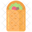 Burrito Take Away Eating Icon