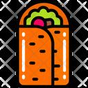 Burrito Take Away Eating Icon