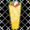 Burrito Pita Sandwich Tortilla Rolls Icon