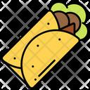 Burrito Meal Roll Icon