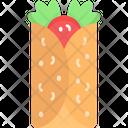 Burrito Veg Roll Roll Icon