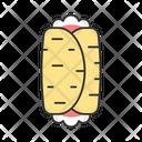 Burrito Traditional Dish Icon