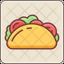 Burrito Tortilla Pita Sandwich Icon