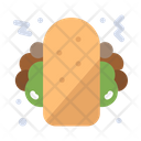 Burrito Snack Food Tortilla Icon