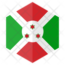 Burundi Flag Hexagon Icon