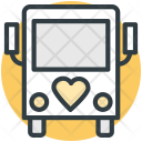 Bus Heart Sign Icon