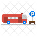 Bus Station Travel Icon
