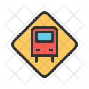 Bus Stop Sign Icon