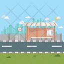 Bus Terminal Morning Icon