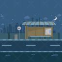 Bus Terminal Night Icon