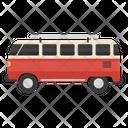 Road Trip Bus Transport Icon