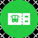 Bus Ticket Boarding Icon