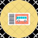 Bus Ticket Travel Icon