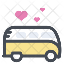 Bus Transport Love Icon