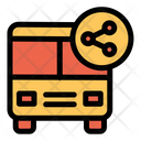 Share Sharing Bus Icon
