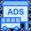 Bus Advertisement Bus Board Icon